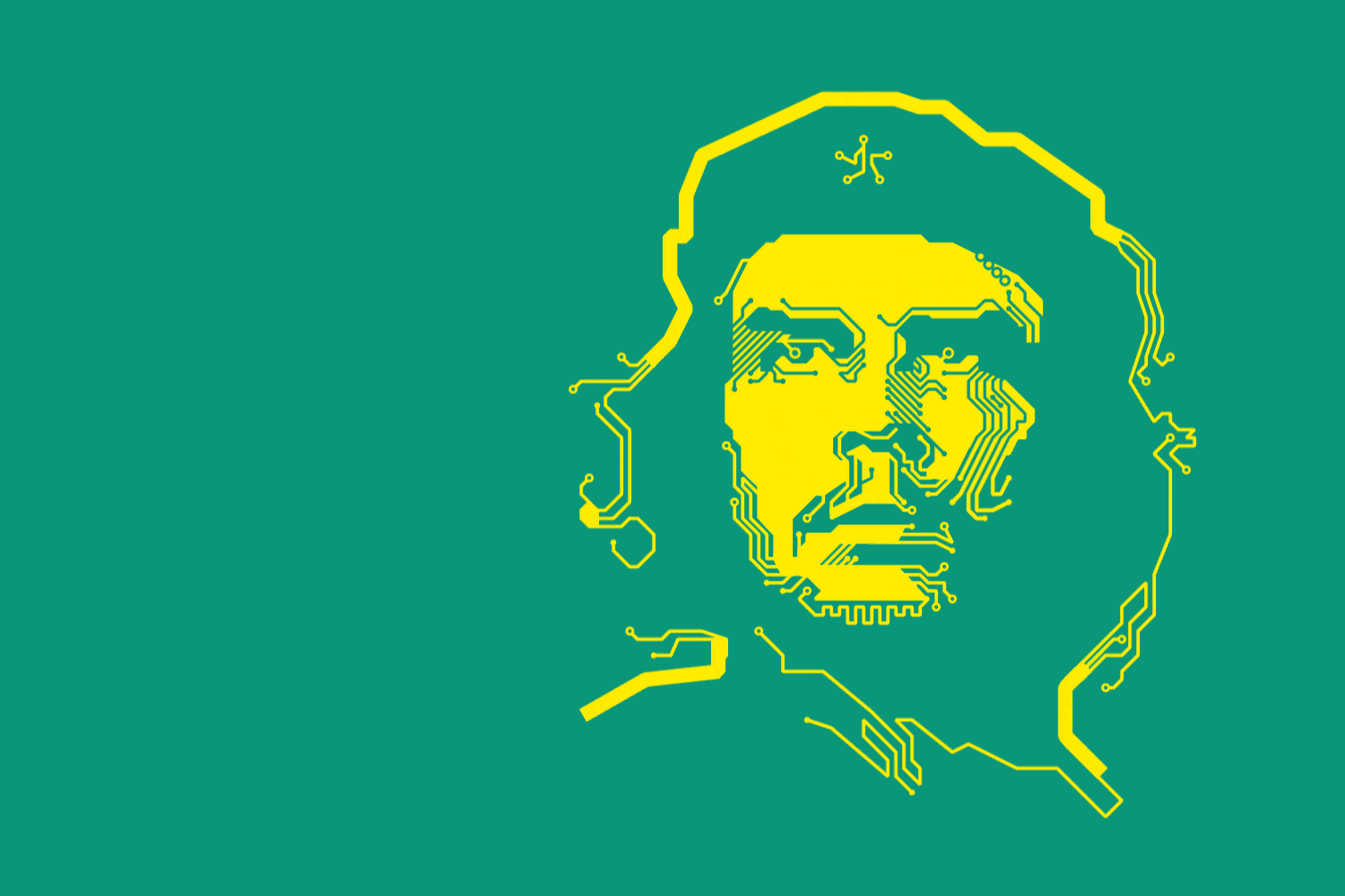 The Che Guevara motif in printed circuit board optics underscores KSG's revolutionary technologies