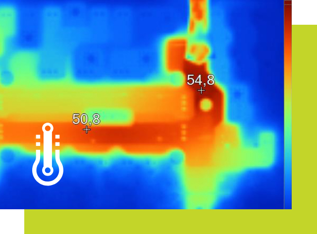 Thermal image of a KSG thermal analysis.