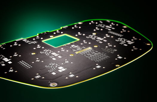 Picture of LED PCB with control electronics