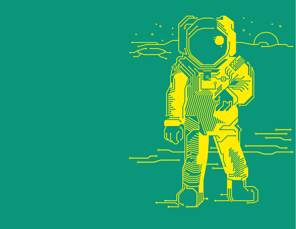 Astronaut a PCB visual symbolises the best circuit board technologies